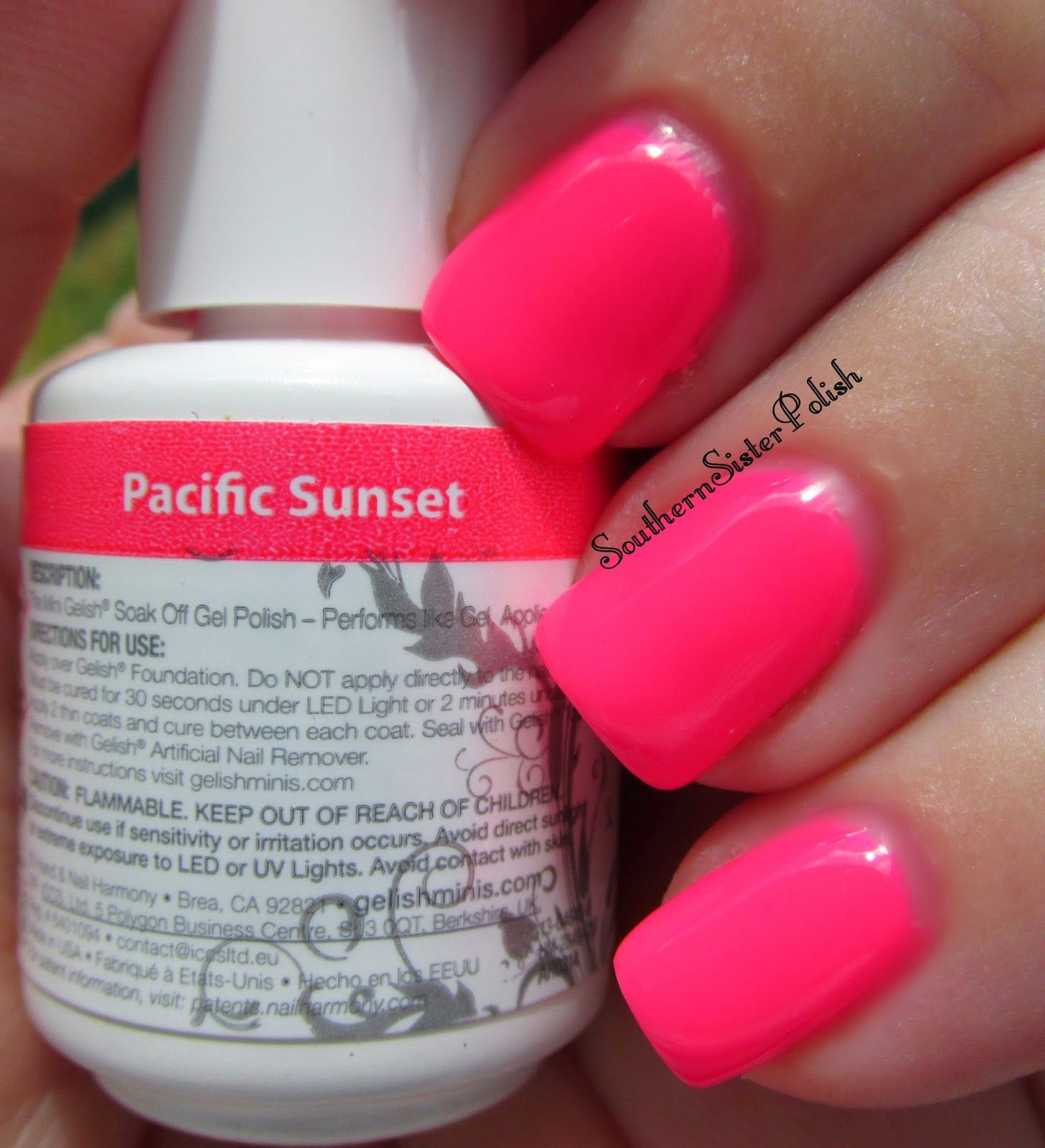Beautiful Neons! this color is called! Pacific Sunset by Gelish ...
