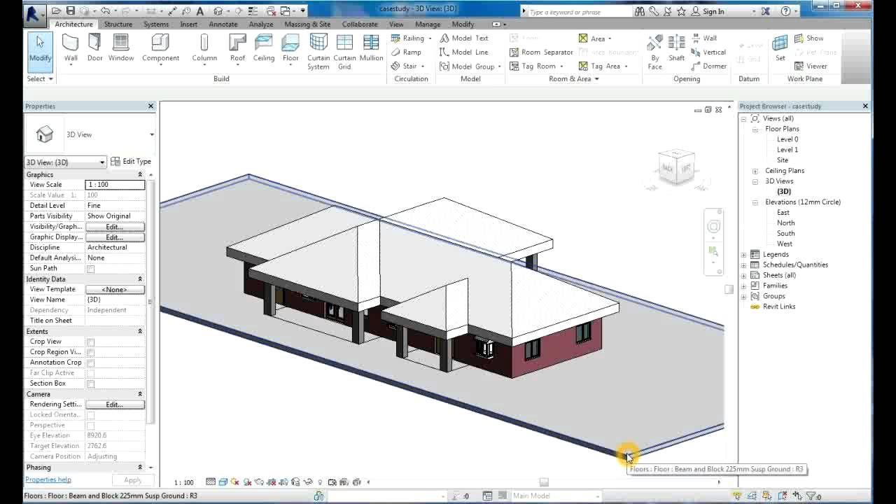 Revit Tutorial Revit Architecture 2014 Tutorial For Beginners