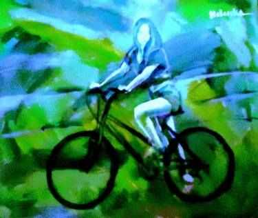 "Saatchi Art Artist Helena Wierzbicki; Painting, ""Bicycle"" #art"
