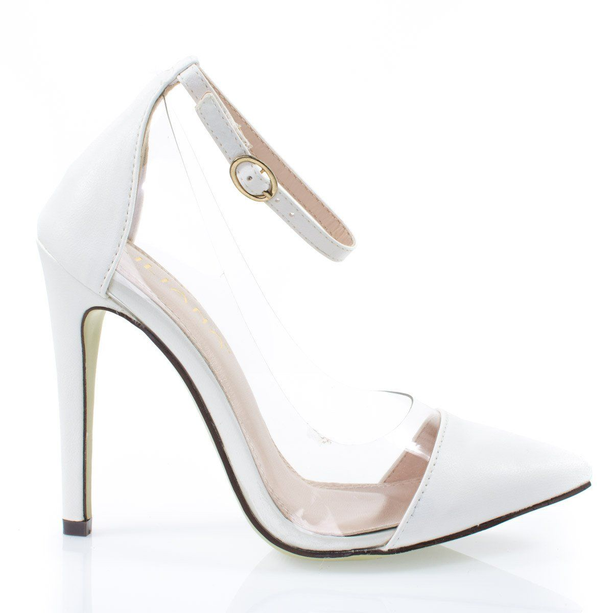 00ea744ed579f Olga1E By Liliana, Women's Clear Lucite Pump, Pointed Toe Ankle ...