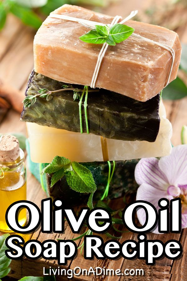 Olive Oil Soap Recipe - Easy Recipe For Homemade Olive Oil Soap #oliveoils