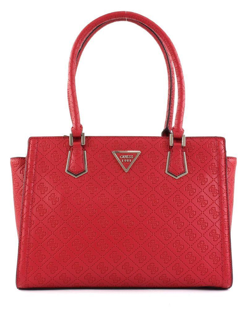 Guess Lyra Society Satchel Shoulder Bag Messenger Bag Bag Red Red New Ebay Guess Purses Shoulder Bag Guess Handbags