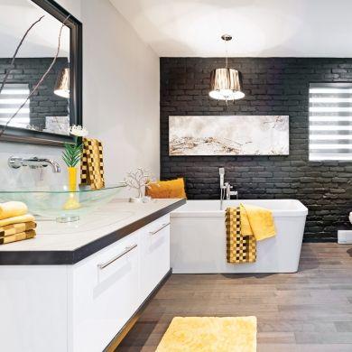 Rusticité moderne dans la salle de bain - Je Décore #homestagingavantapres