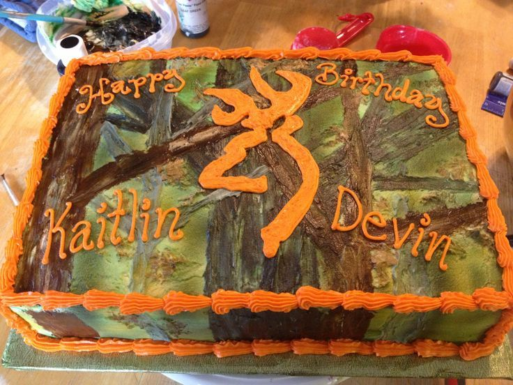 Camo birthday cake for two people Sweets Pinterest Camo
