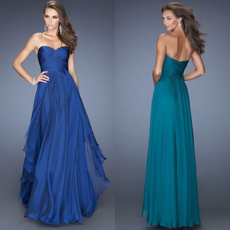 Encontrar Más Vestidos de Damas de Honor Información acerca de Azul ...