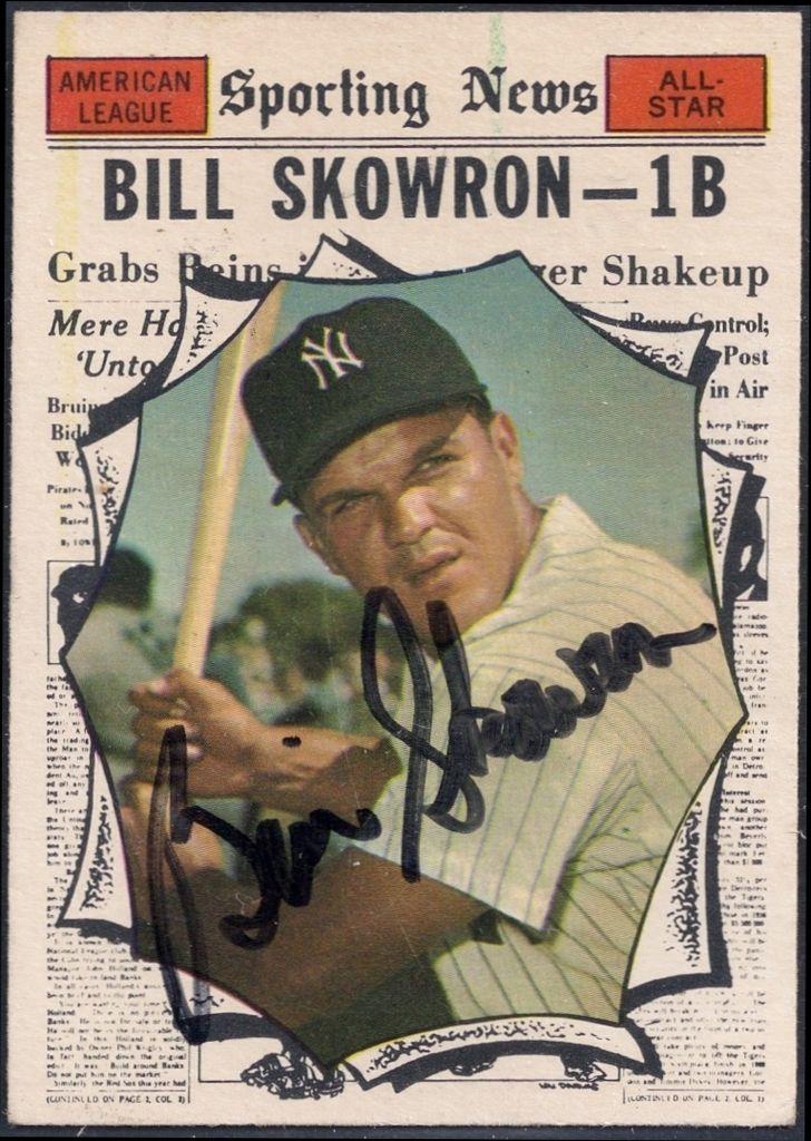 1961 topps as bill skowron autograph yankees baseball