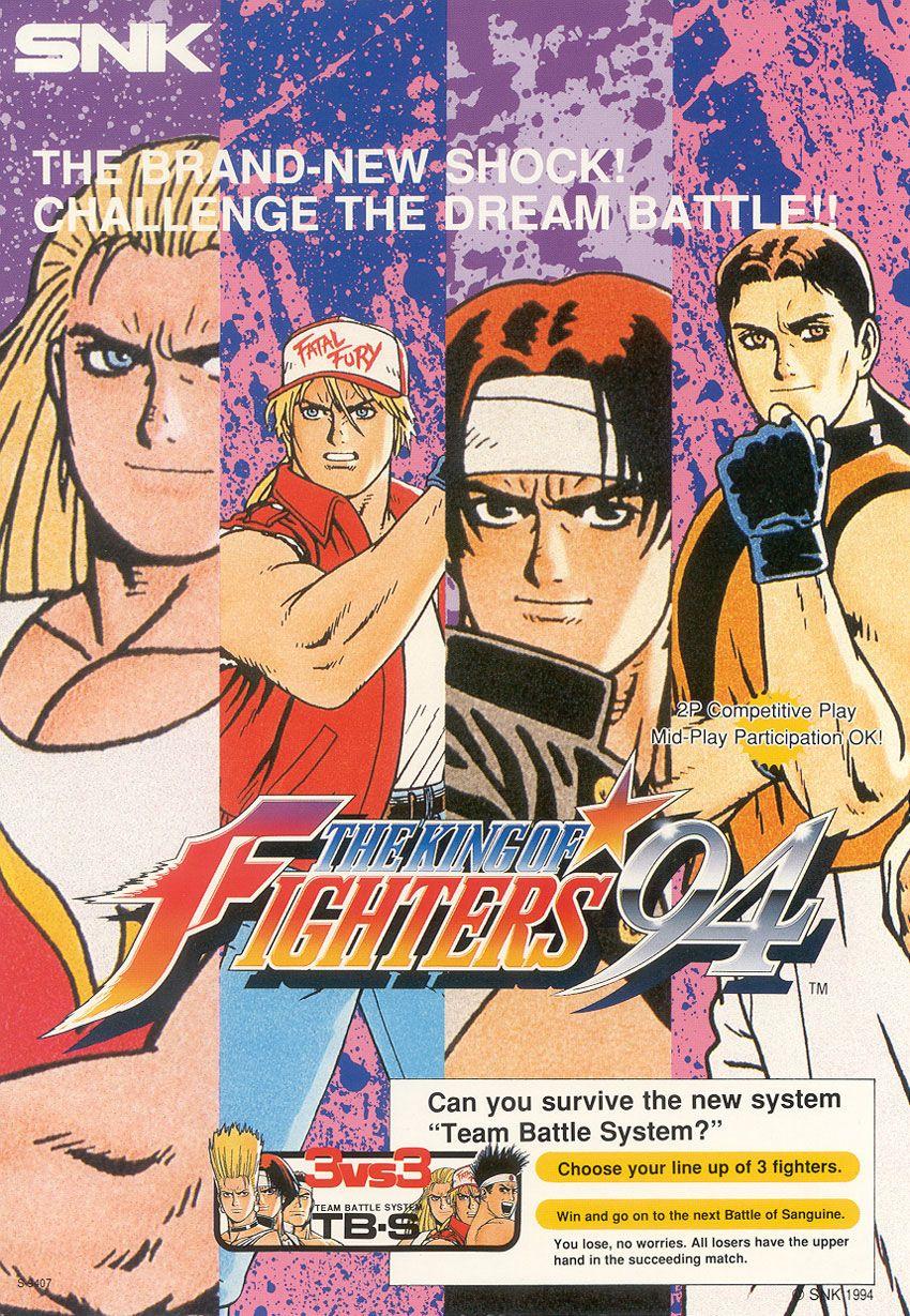 The King Of Fighters 94 King Of Fighters Jogos De Luta Lutador