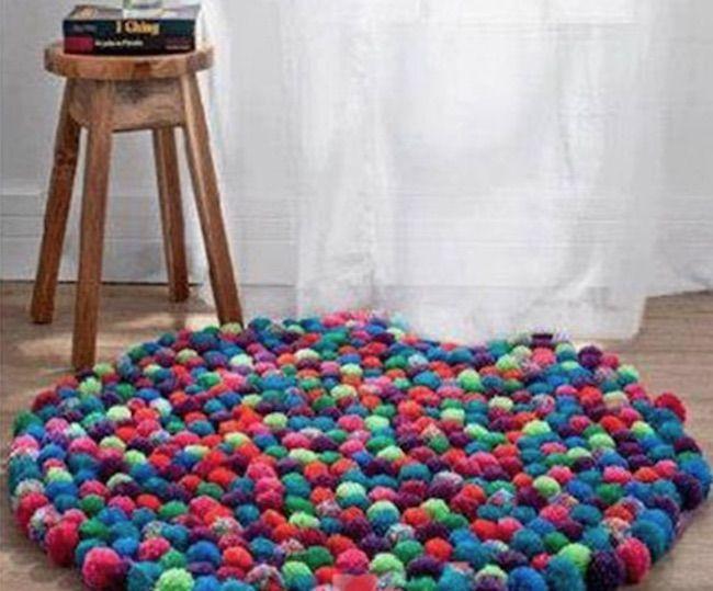 C mo hacer una alfombra con pompones con forma redonda for Como hacer alfombras a mano