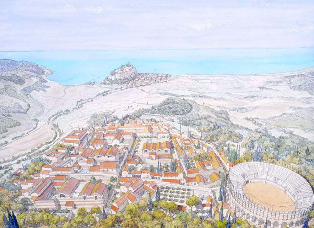 Gaul Cemenelum Cimiez Et Nikaia Nice Architecture Grecque Ancienne Architecture Historique Histoire En Francais
