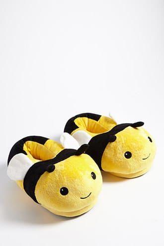 8f14d6a0fb32d Plush Bee Indoor Slippers