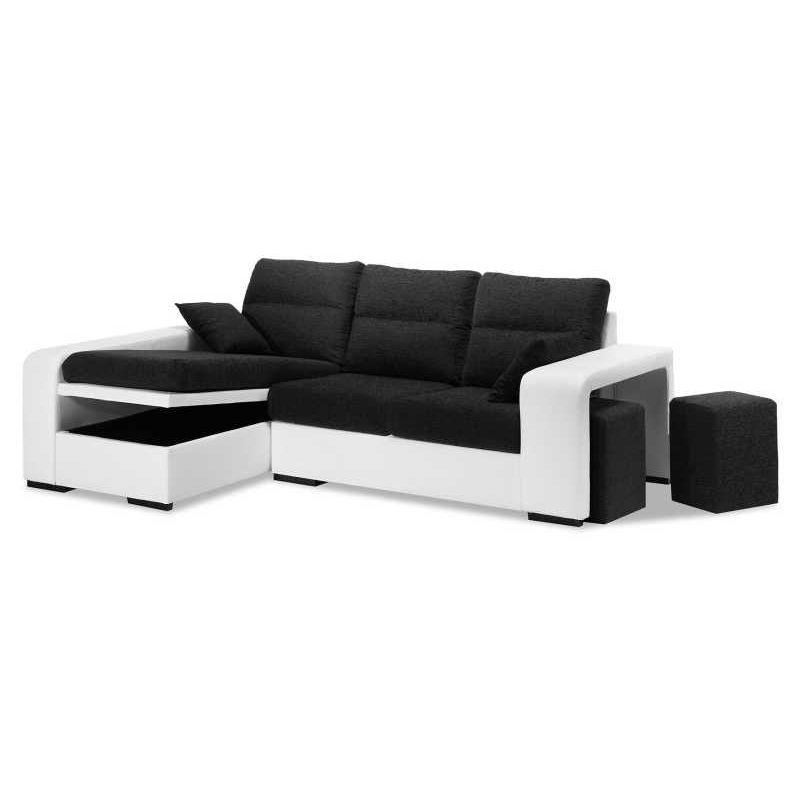 Chaise longue chocolate blanco futon albuquerque and toy - Chaise longue modernos ...