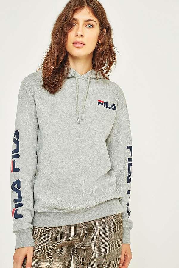 fila hoodie mens grey
