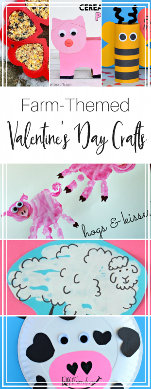 Looking for a different activity for your kids this V-Day? Check out these Farm Themed Valentine's Day Crafts that double as educational animal lessons!