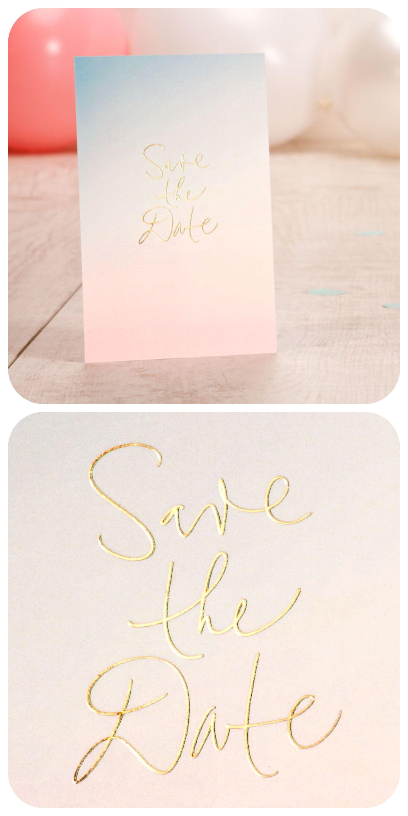 Lieben sie auch goldlettering entscheiden sie sich dann für diese stilvolle save the date einladungskarte