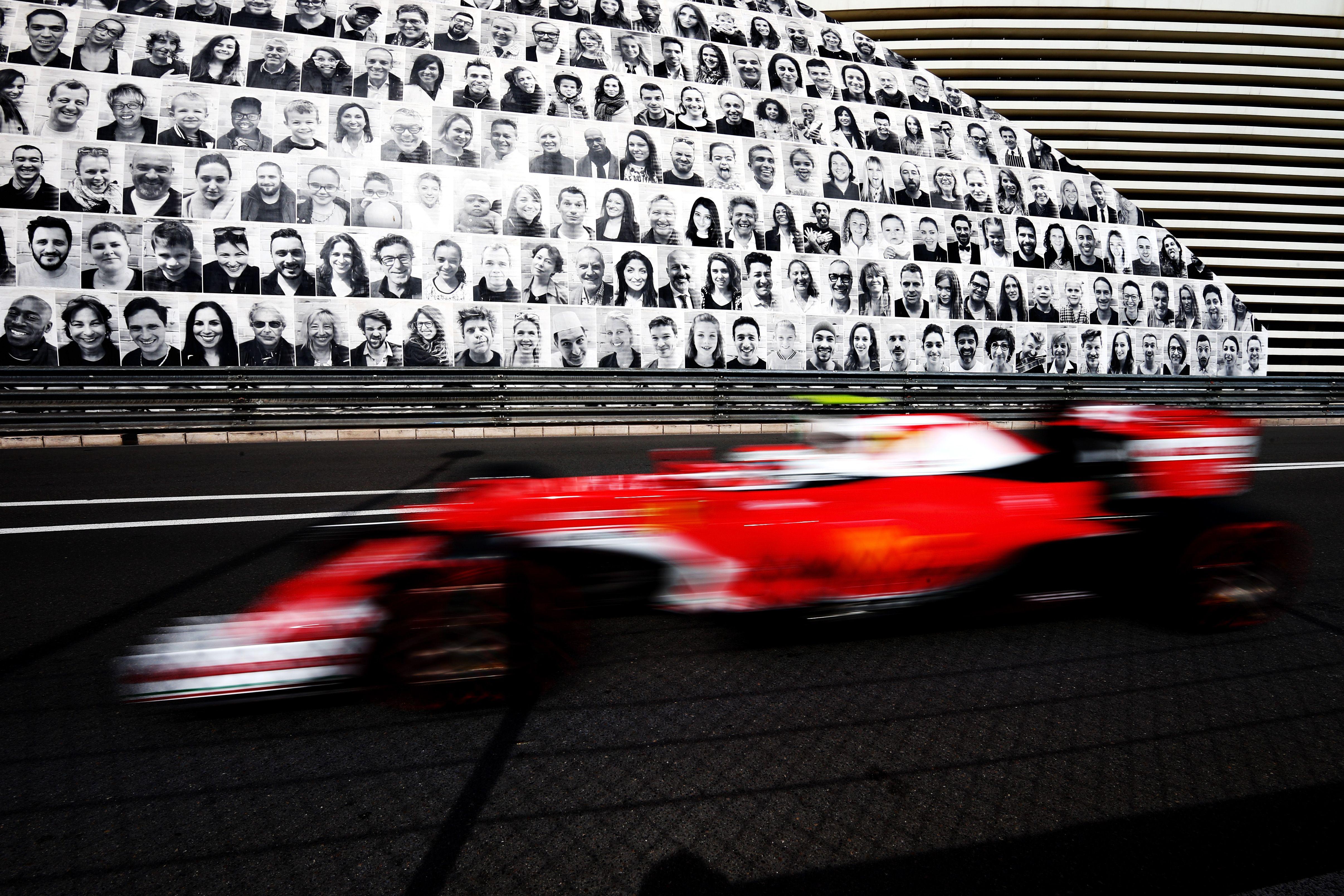 Kimi Raikkonen durante los entrenamientos del Gran Premio de Fórmula Uno en Mónaco.