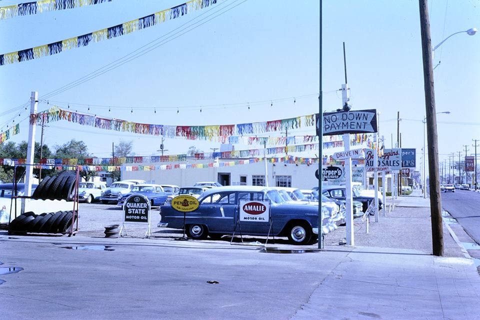 Car Dealerships In Albuquerque Nm >> Looking North on 4th street 1964. | Albuquerque news