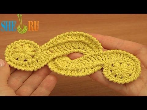 Crochet Freeform Motif Tutorial 16 Irish/Guipure Crochet Motif Free ...