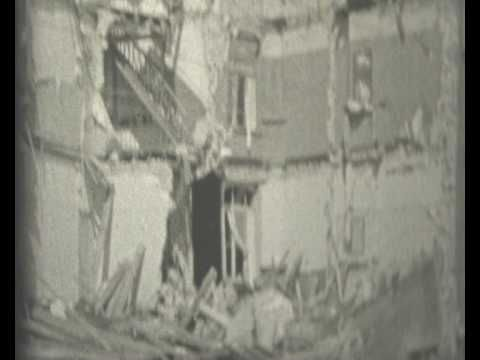 oostende mei 1940 hier kun je zien hoe de gebouwen er uitzachen in de oorlog  opdracht :maak een tekening van een verwoest gebouw