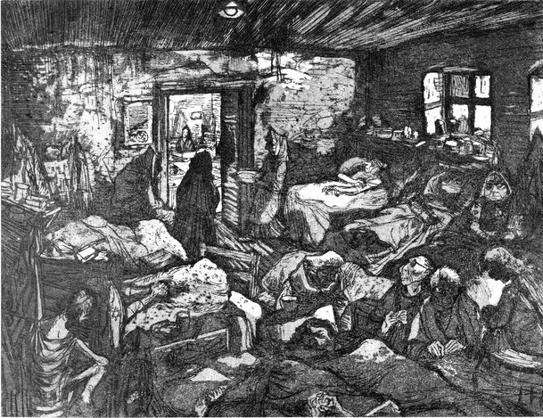 drawing of the Theresienstadt Ghetto by Leo Haas, 1943-1968 ...
