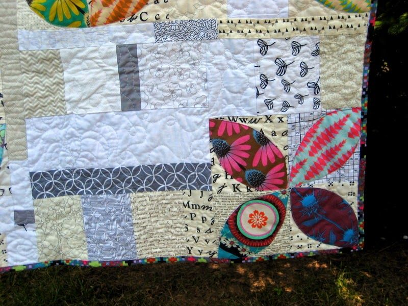 """Quilty Habit: """"Scatter"""": A Finished Orange Peel Quilt"""