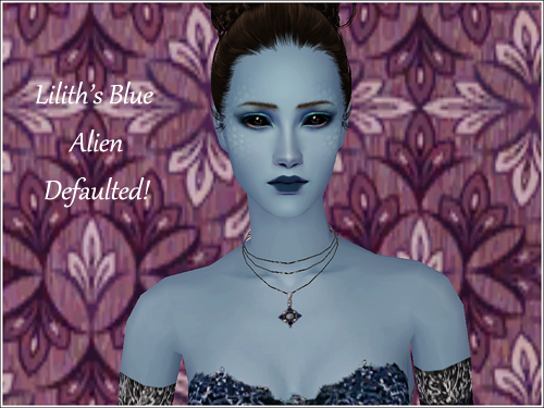 The Sims 2 Finds: Distant Dreams - [Sims 2] Lilith's Blue Alien skin Defaulted