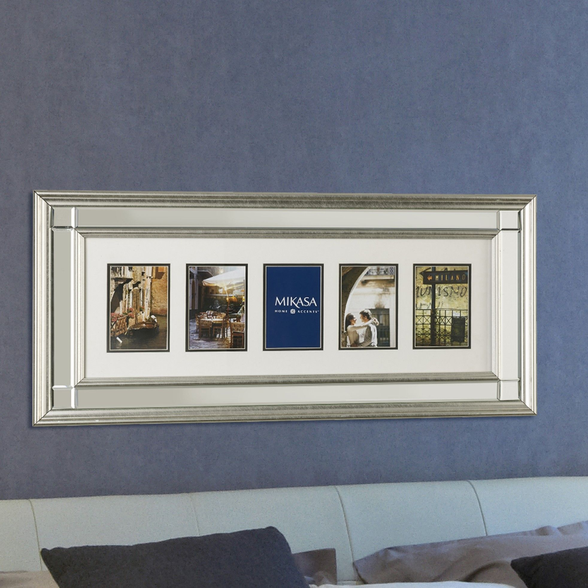 5 Opening Champagne Mirror Wall Collage Picture Frame   Products ...