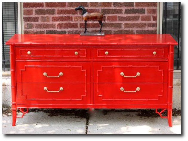 Meg Made Designs Blog 9 500x375 Pops Of Cherry Red Painted Furniture