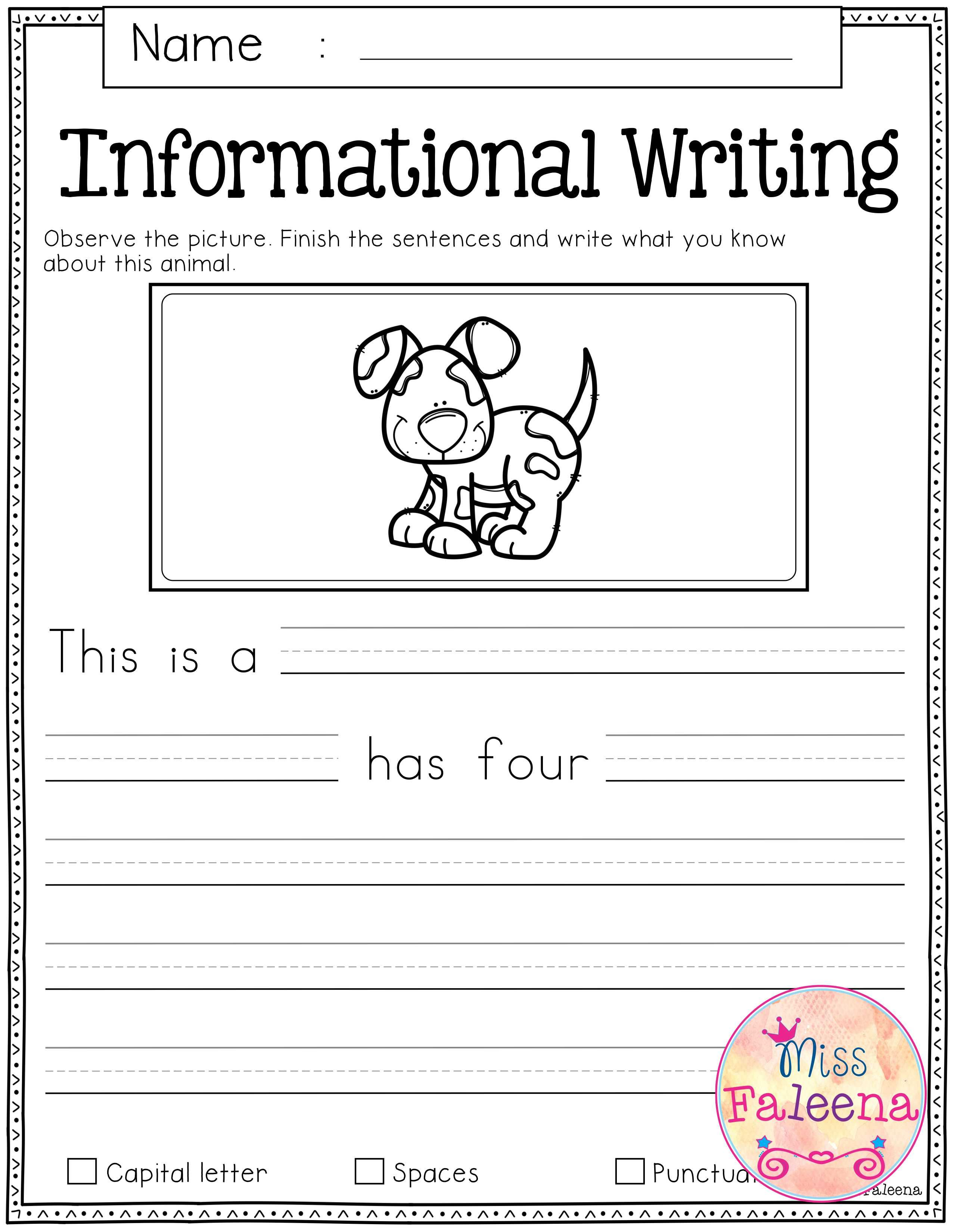 Free Writing Prompts | First Grade | Kindergarten writing prompts ...