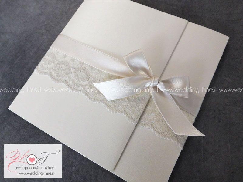 Partecipazioni Matrimonio Con Pizzo.Partecipazione Matrimonio Collezione Eleganza 018 Partecipazioni