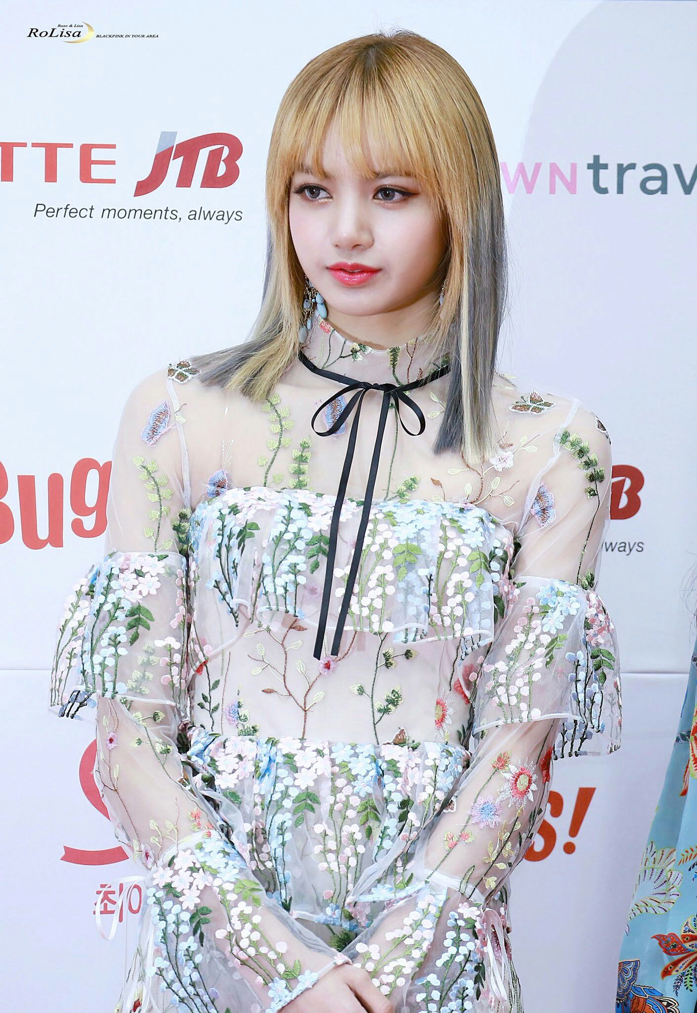 Image result for lisa blackpink flower top