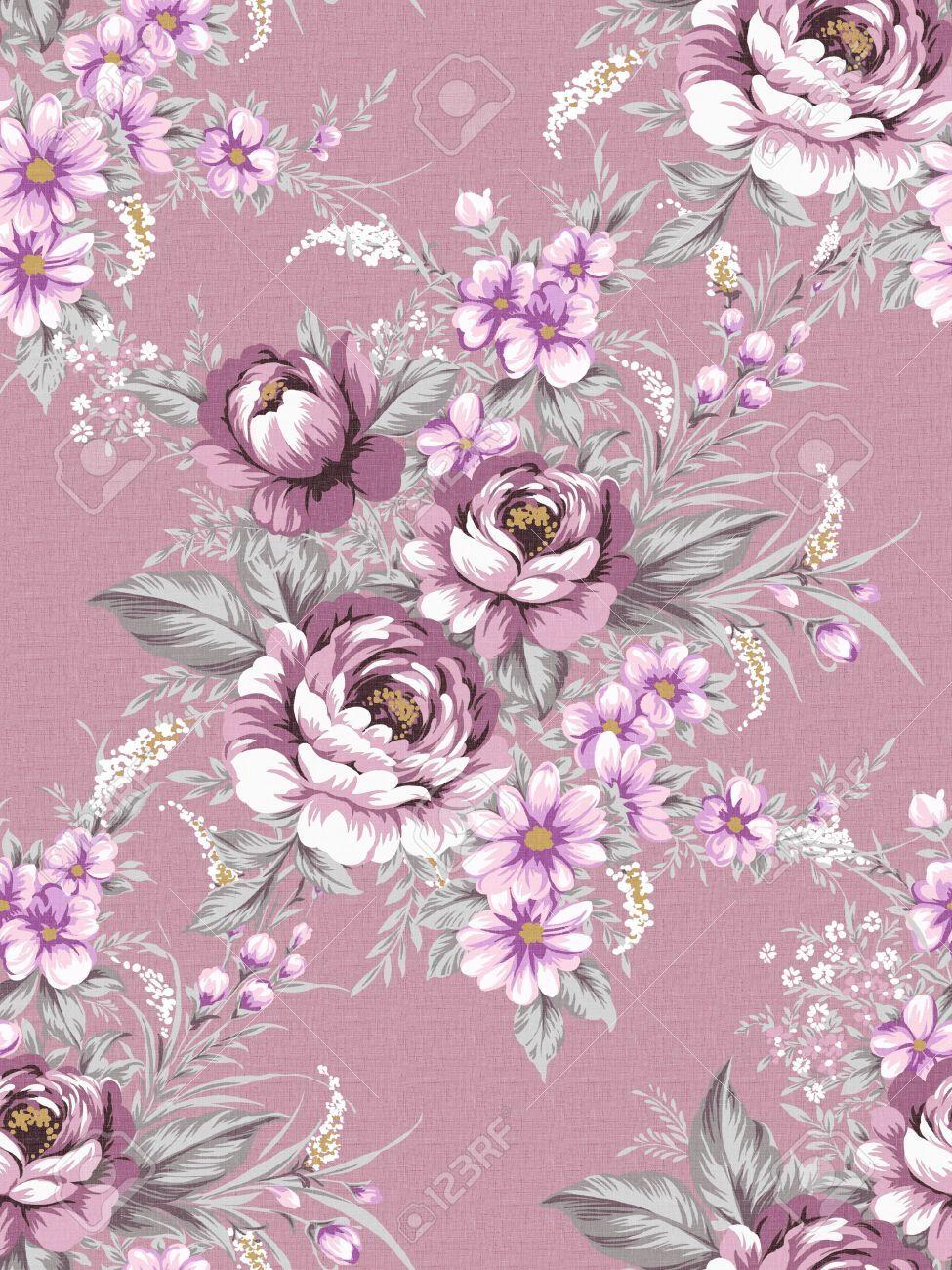 vintage floral wallpaper purple Поиск в Google Pattern