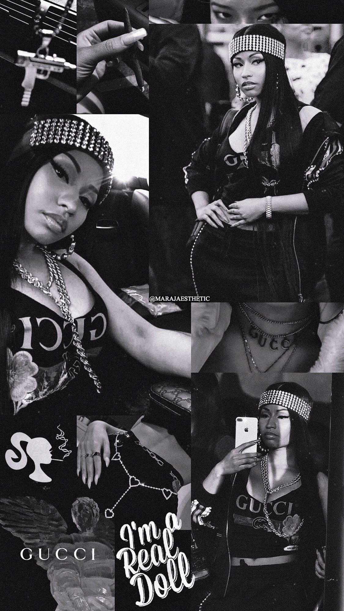 Nicki black and white wallpaper Made by MARAJAESTHETIC on