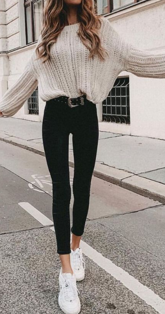 25 Cute Warm Outfits For Weekend on Fall #falloutfits
