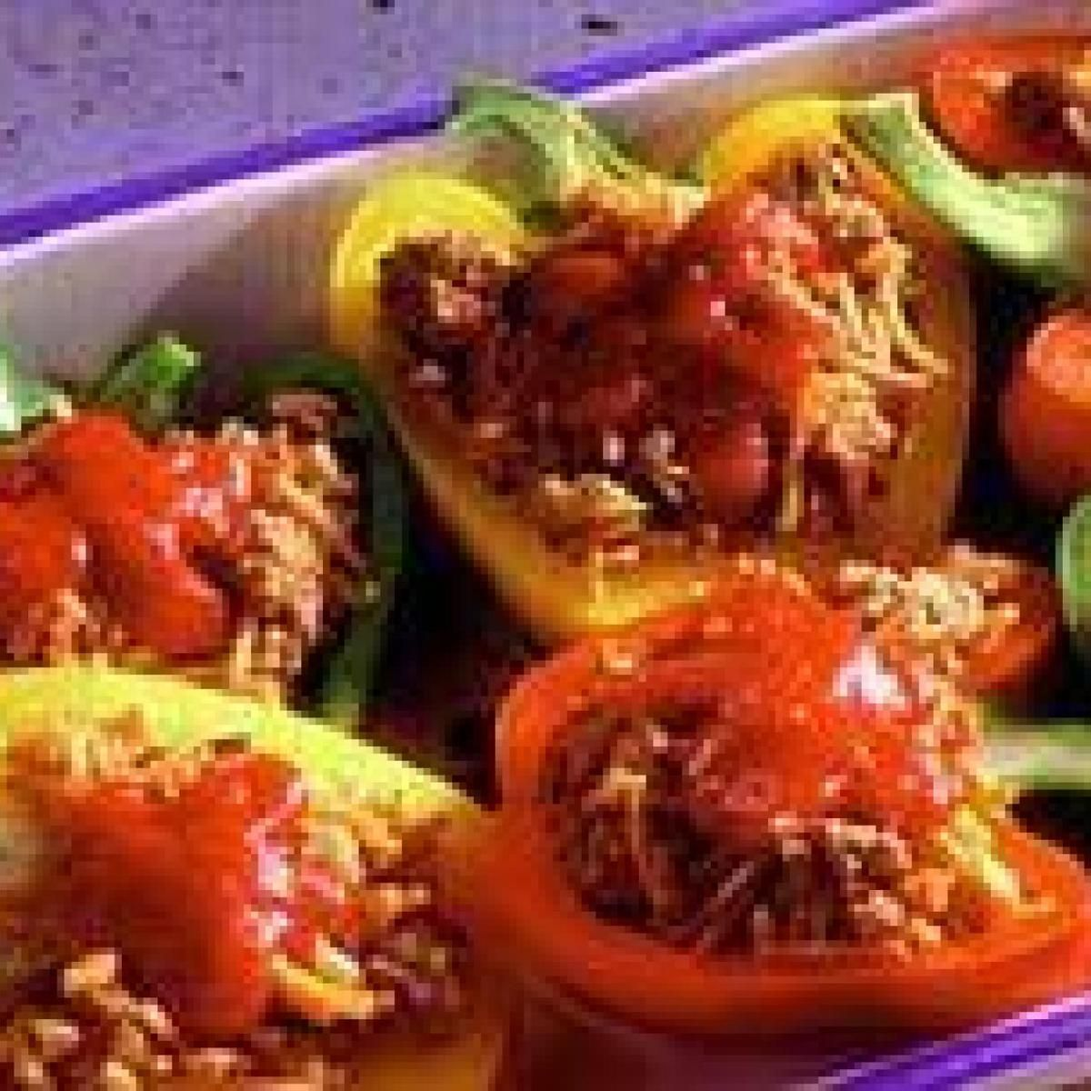 Speedy Stuffed Peppers Recipe Stuffed Peppers Recipes Food