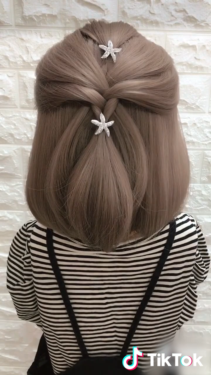 super easy to try a new #hairstyle ! download #tiktok today