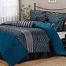 image of Stratford Park Chevron Comforter Set