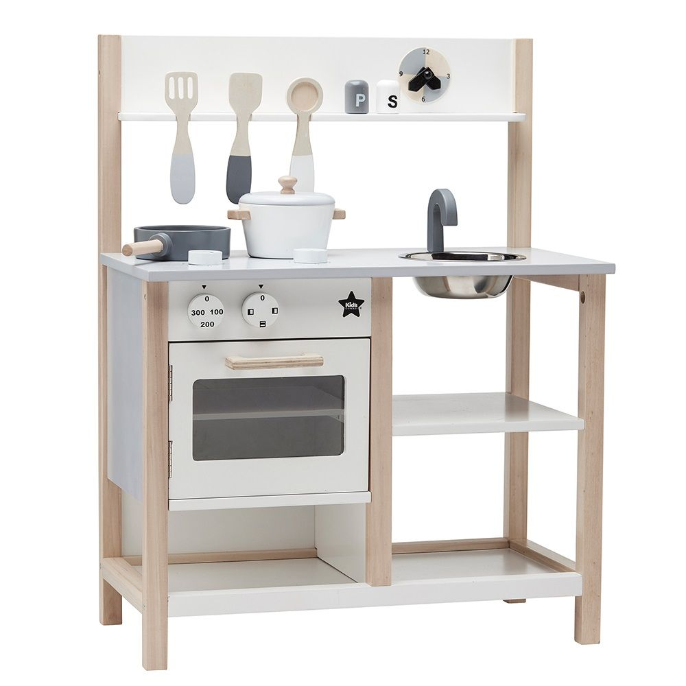 Kids Concept Wooden Play Kitchen | Scandi Style | Gifts for Kids ...