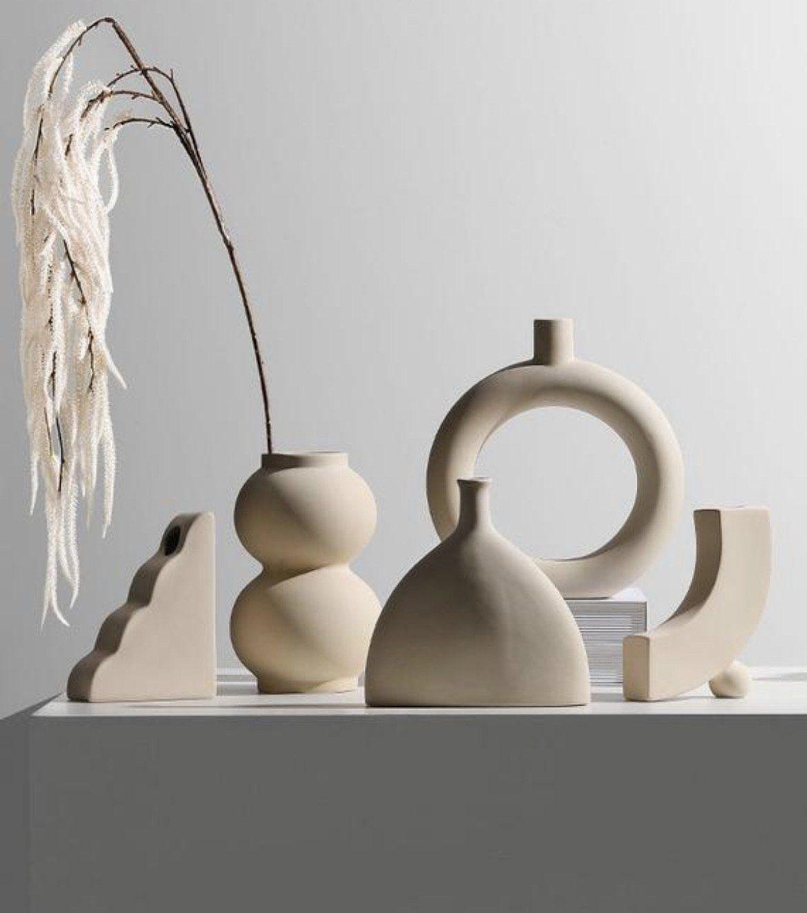 Photo of Beige Nordic Abstract Vase – 4