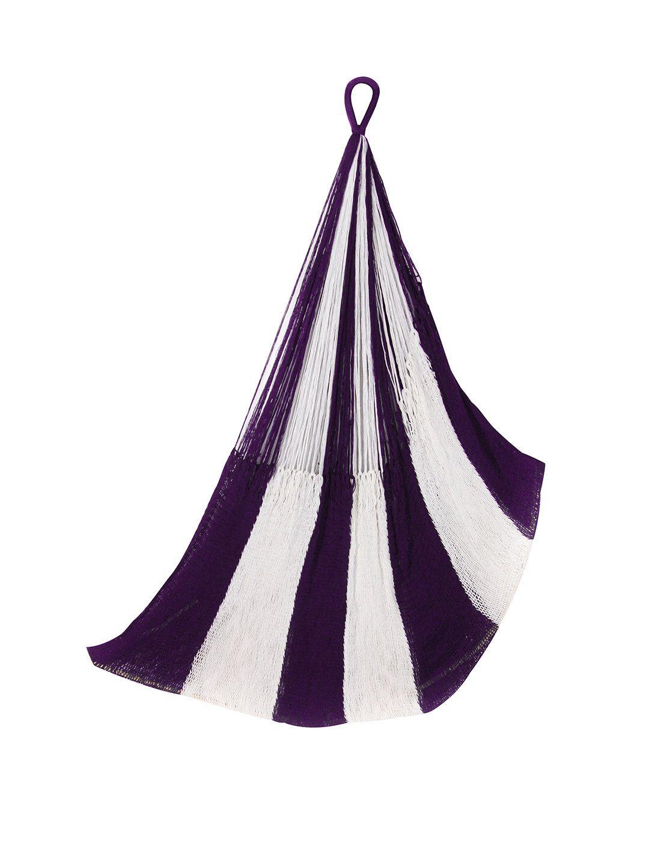 Newport hanging chair hammock navy u white by yellowleafhammocks