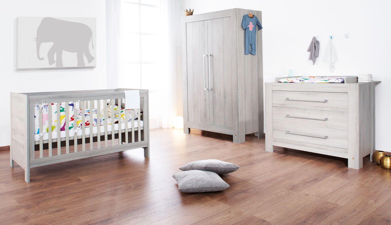 Chambre de bébé | Ensemble mobilier pour bébé composé du lit bébé ...