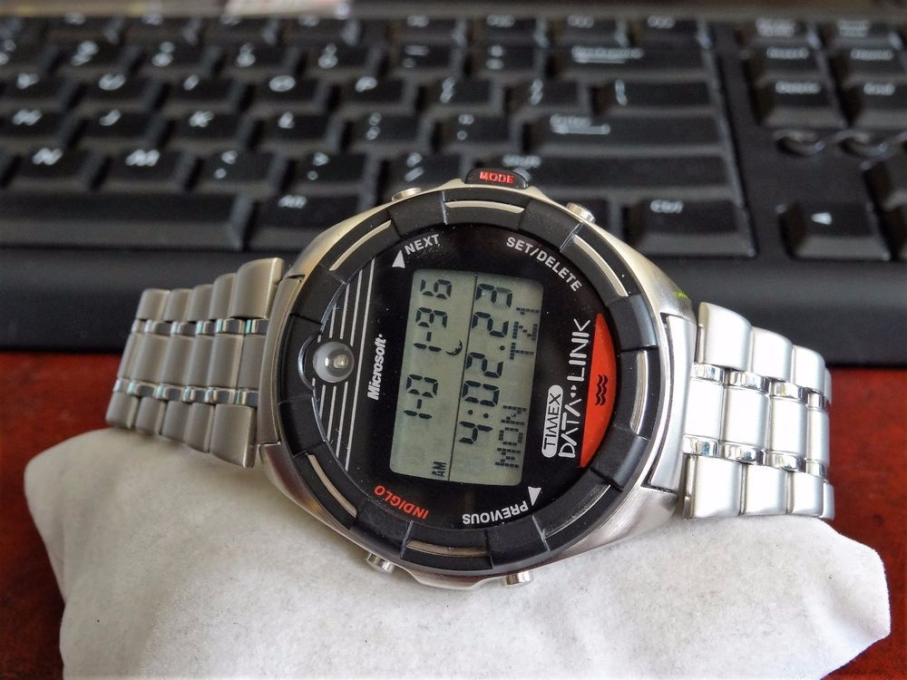 1996 timex microsoft data link model 150 digital watch w box manual rh pinterest com timex expedition digital watch manual timex quartz lithium digital watch manual