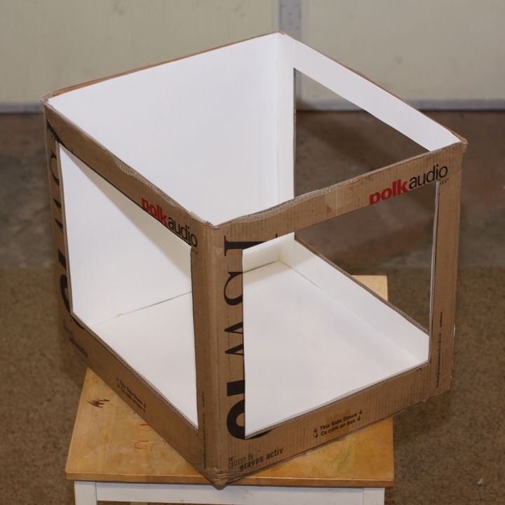 glued poster board for light How to Make An Inexpensive Light Tent DIY & up lighting for a tent with no sides | ... Photography Forums ...