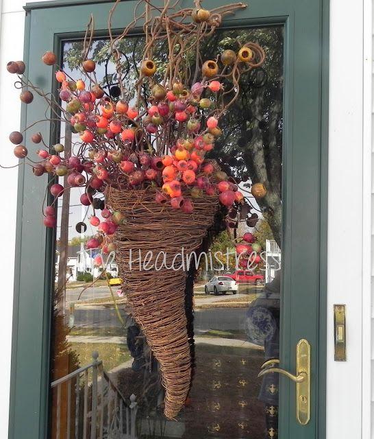 front door hangingsSNS 158  funky fall decorating  Funky junk interiors Door