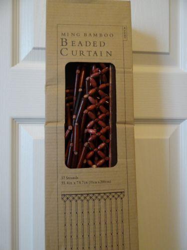 Ming-Bamboo-Beaded-Curtain-37-Strands-35-4-x-78-7-Decor-Drapes-Room-Divider