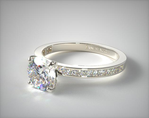 Channel Set Engagement Setting In White Gold Ring Price Excludes