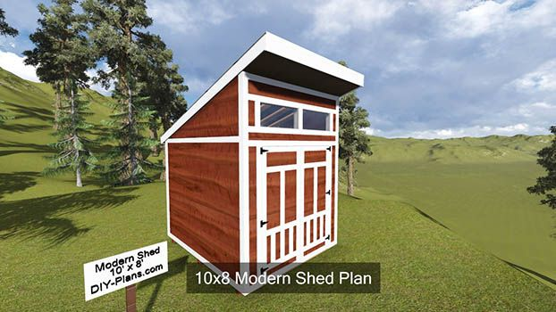 10x8 Modern Shed Plan