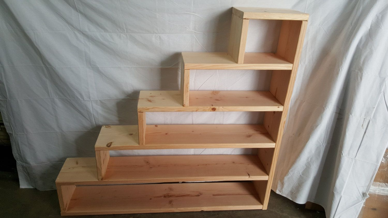 Solid Pine Wood Custom Made Stairs For Any Bunk Or Loft