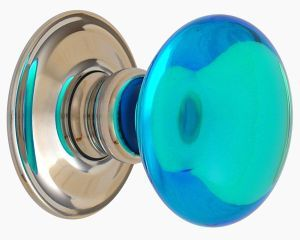 Blue glass smooth door knob by merlin glass | Door Knobs | Pinterest ...