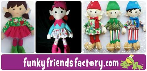 Christmas Elf Sewing Pattern tutorial | Funky Friends Factory ...