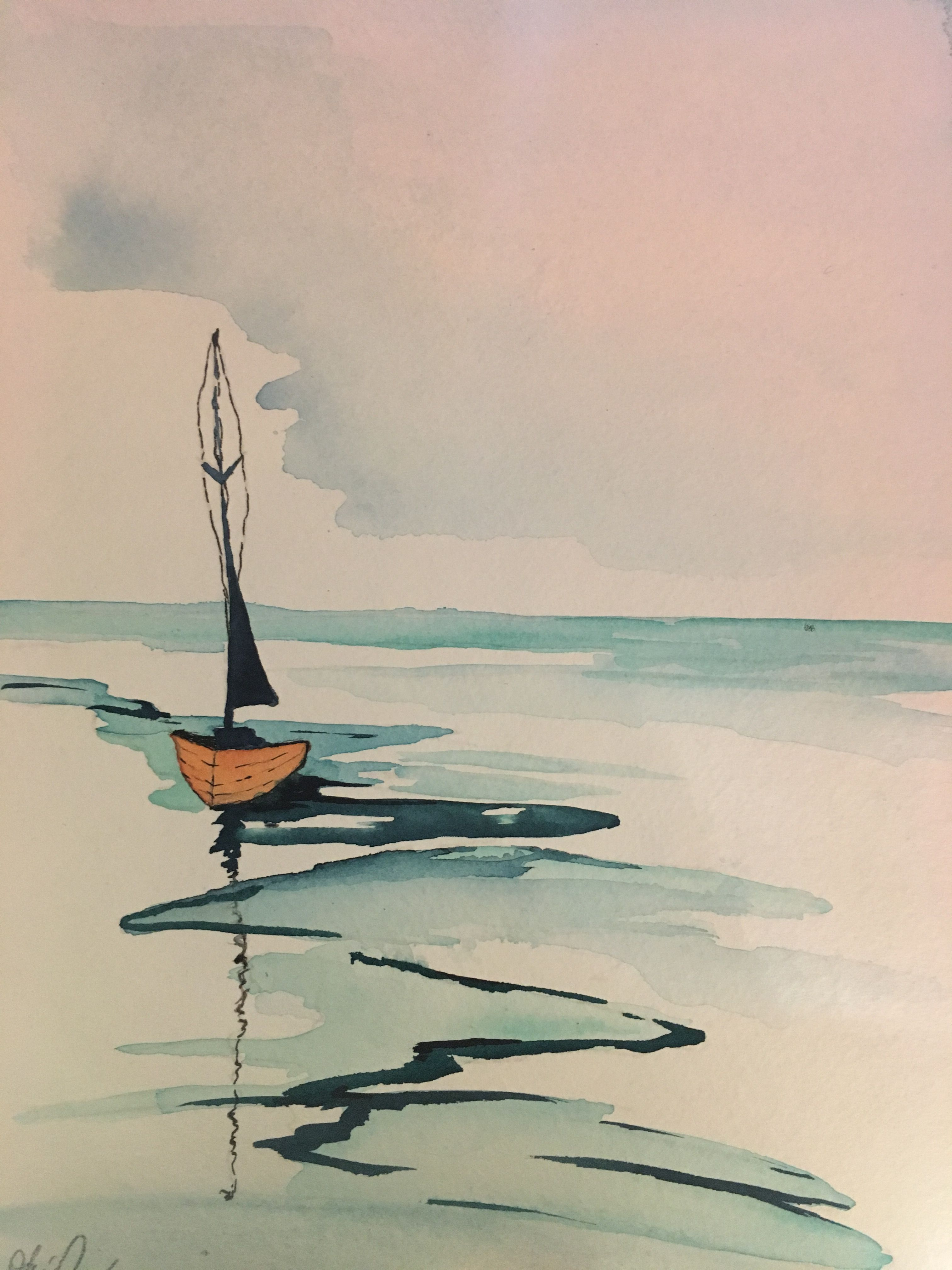 Watercolor The Calm Watercolor Paintings Easy Water Painting